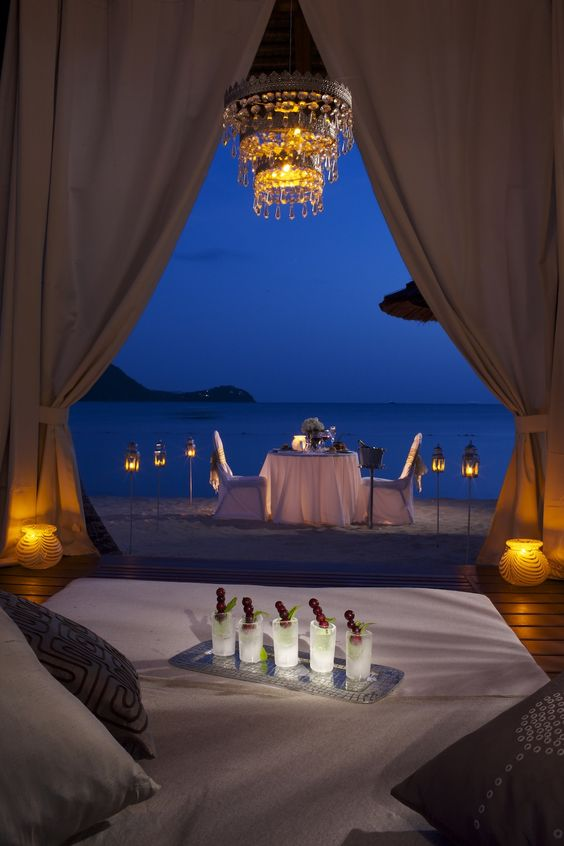 Private dinner just for two #sandalsgrandestlucian