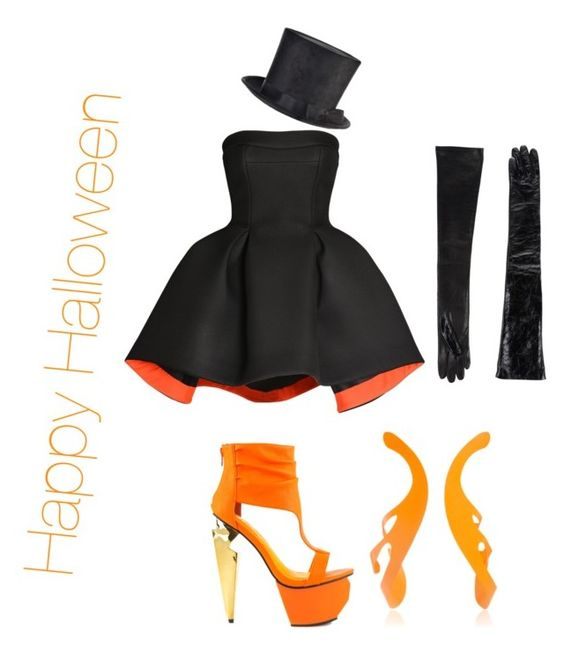 """Happy Halloween"" by anamayo on Polyvore featuring Parlor, Privileged, Rosie Assoulin and Roberto Cavalli"