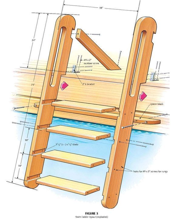 Www Theclassicarchives Com1119 1442search By Image Free Wood Swimming Ladder Plans Wood Ladder Dock Ladder Loft Ladder