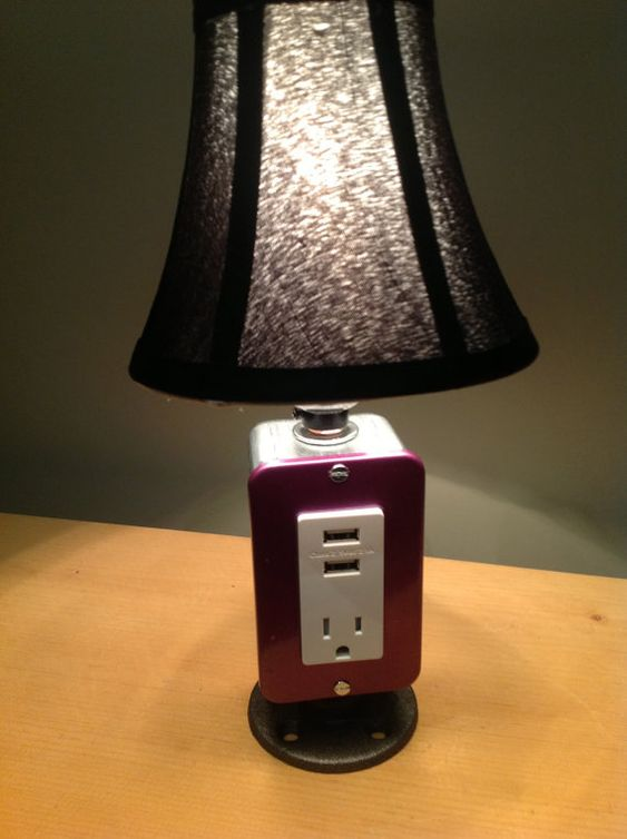 Mini Table Or Desk Lamp With Usb Charging Station By