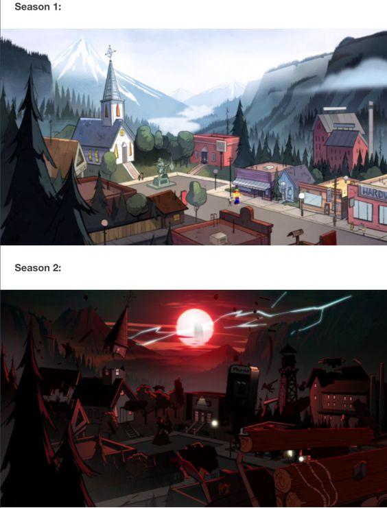 Gravity falls season 1 vs. season 2