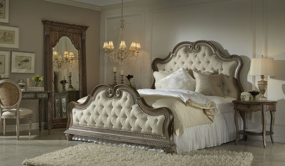 Divine French style bedroom collection from the Accentrics Home collection by Pulaski Furniture.