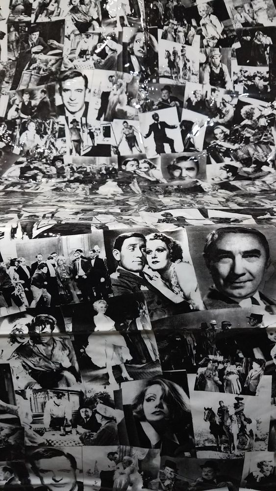 Rare Old Hollywood Movie Stars Black White Shower Curtain