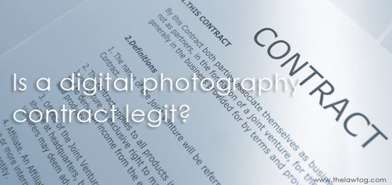 To use  - photography contract