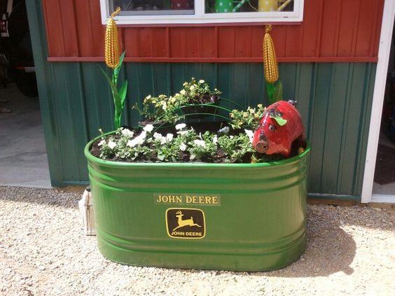 John Deere Flower Pots : John deere planter nothing runs like a pinterest