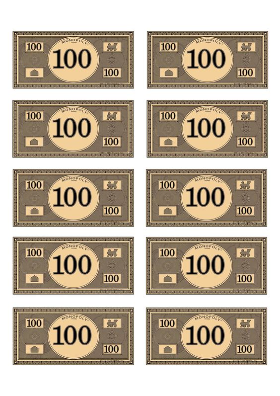 monopoly money templates - monopoly money 100 budget pinterest money and monopoly