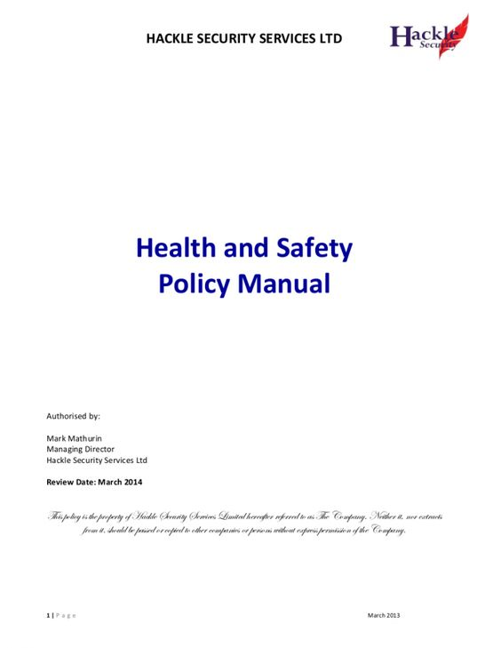 Explore Our Example Of Construction Safety Policy Template For Free Safety Policy Construction Safety Policy Template