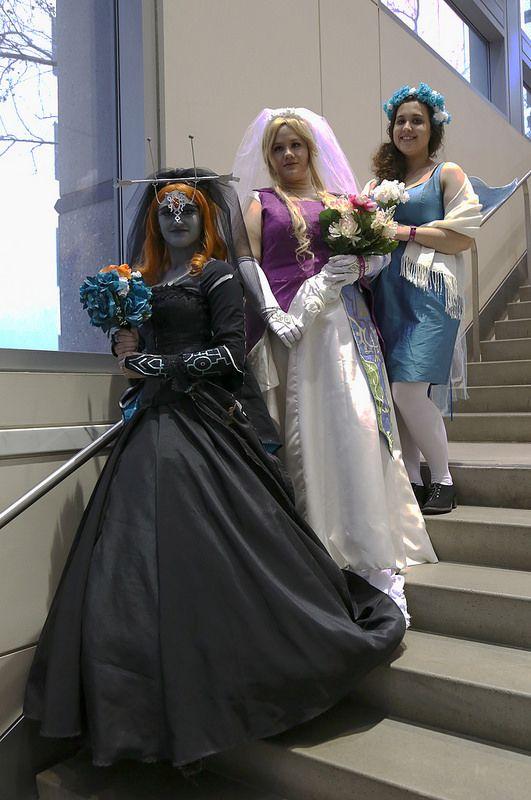 Midna (ミドナ), Princess Zelda (ゼルダ姫), and Navi (ナビィ), from the Legend of Zelda video games (ゼルダの伝説)