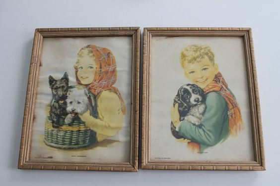 Vintage Prints Happy Companions His Very Own Boy by PeggysTrove, $40.00