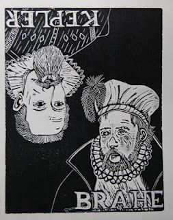 Cathy Savage created woodcuts with our Epilog to make these posters