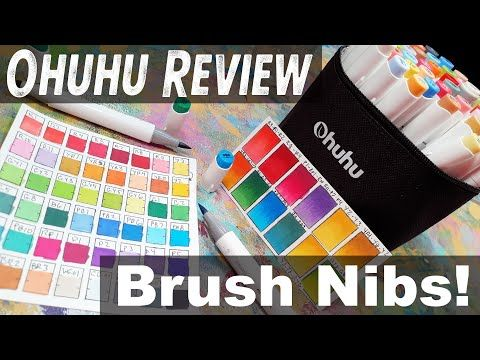 New Ohuhu Brushtip Alcohol Marker Review 20 Off Coupon Code In