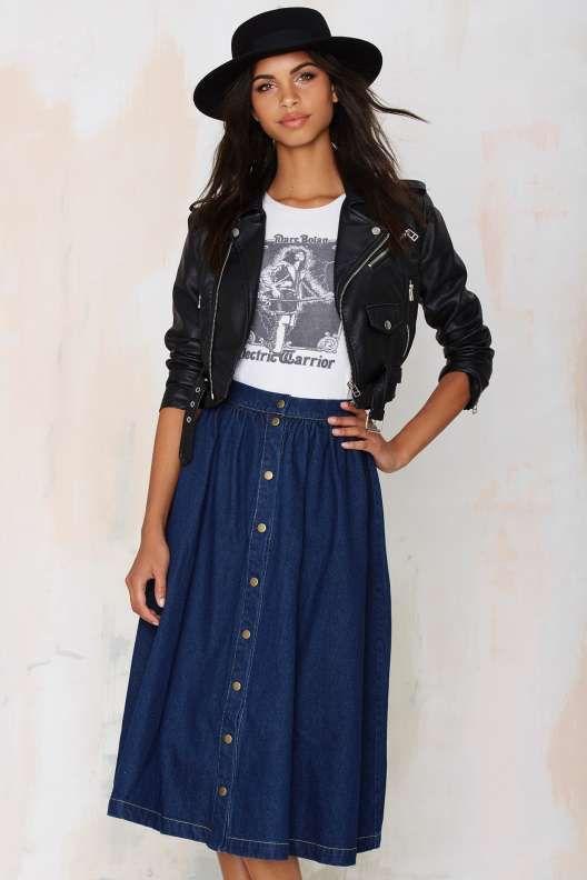 Sienna Denim Skirt