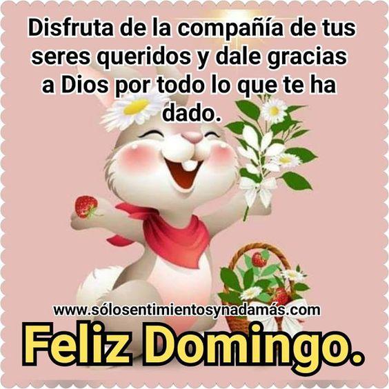Disfruta de la compañía de tus seres queridos y dale gracias a Dios por todo lo que te ha dado.