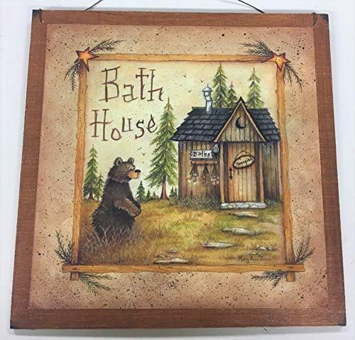 House Wooden Bathroom Decor Camper In 2020 Bathroom Art Prints Country Art Primitive Decorating Country