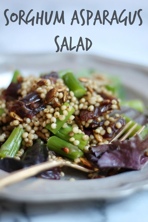 Sorghum Asparagus Salad | Cooking with Books