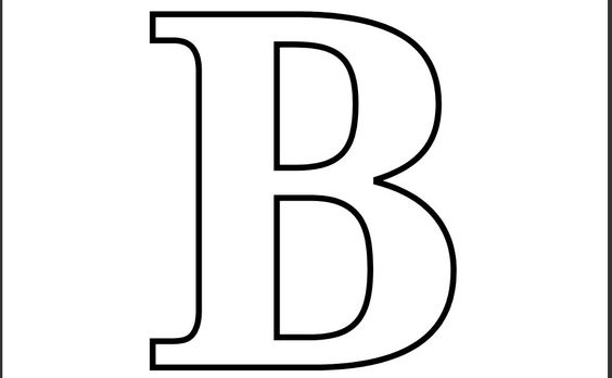 This is a photo of Epic Letter B Printable