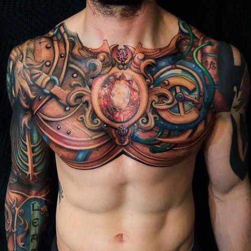 Badass Chest Tattoo Designs Best Tattoo Ideas For Men Cool Badass Tattoos For Guys Awesome Cool Tattoos For Guys Chest Tattoo Men Tattoos For Guys Badass
