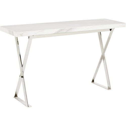 Delightful White Marble Console Table With Stainless Steel Legs | Urban Couture    Designer Homewares U0026 Furniture Online | Consoles + Hall Tables | Pinterest  | Marble ...
