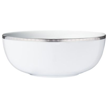 Threshold silver Prcln Snowflake Serving Bowl