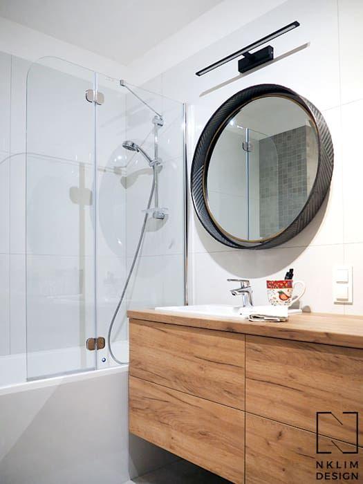 Nklim Design Bagno In Stile Scandinavo Homify Bagno Specchi Bagno Specchio Da Bagno
