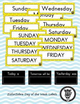 Number Names Worksheets : printable days of the week chart ~ Free ...