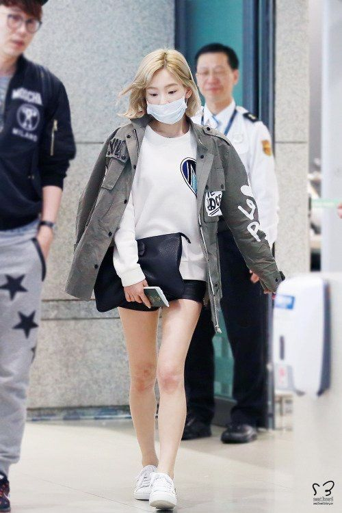 Image Result For Taeyeon Thighs Gap Taeyeon Fashion Snsd Airport Fashion Korean Fashion