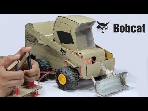 Amazing Bobcat How To Make Rc Bobcat Machine From Cardboard Diy Bobcat Machine Youtube Cardboard Toys Cardboard Diy