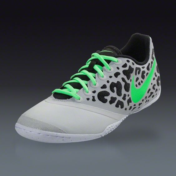 Nike Elastico Pro II - Neutral Grey/Black/Neon Lime/White  Indoor Soccer Shoes