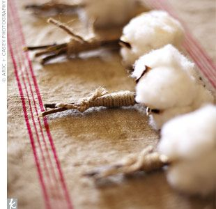 Cotton Blossom Boutonnieres