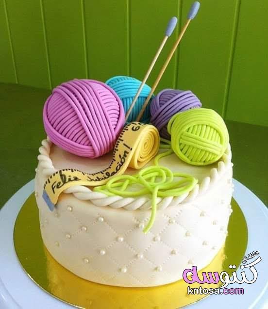 بالصور تورته على شكل ماكينه خياطه أشكال كعكات مزينة بالخيوط الملونة وأدوات الخياطة احدث تصميمات 2019 Kntosa Com 10 19 154 Knitting Cake Cake Sewing Cake
