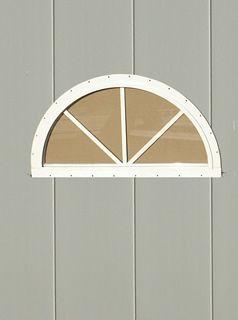 Half moon playhouse window