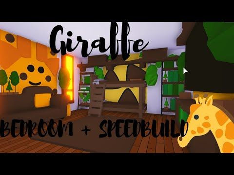 Giraffe Bedroom Speedbuild Roblox Adopt Me Youtube In 2020 Giraffe Bedroom Giraffe Room Cute Room Ideas