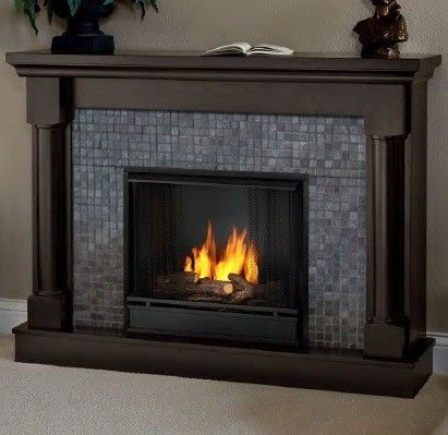 Real Flame Bennett Ventless Gel Fireplace. Found on Soothing Fire Places