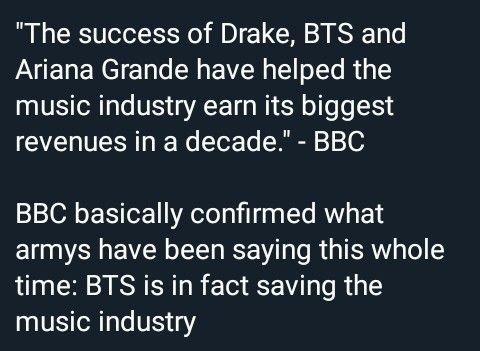 Bts Is In Fact Saving The Music Industry Bts Qoutes Bts Bts Memes