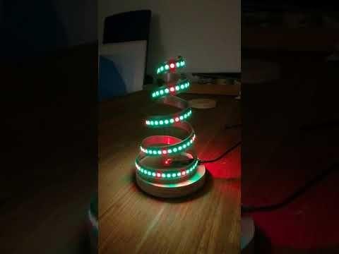 Christmas Tree With Ws2812 And Arduino Nano Youtube Arduino Christmas Tree Diy Gadgets