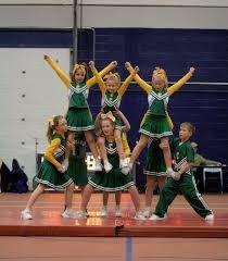cheerleading stunts and pyramids
