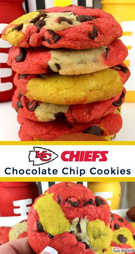 Kansas City Chiefs Chocolate Chip Cookies