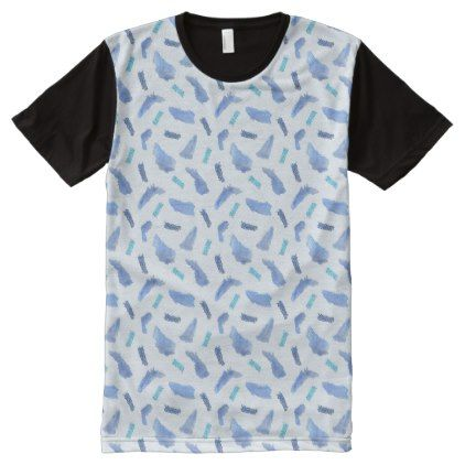 Blue Watercolor Spots Men S Panel T Shirt Zazzle Com T Shirt