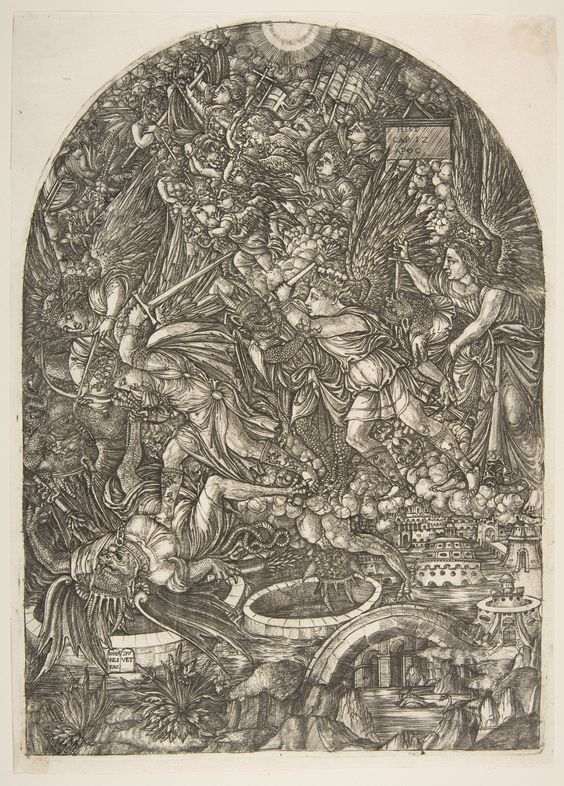 Saint Michael and the Dragon, from the Apocalypse : Free Download & Streaming : Internet Archive