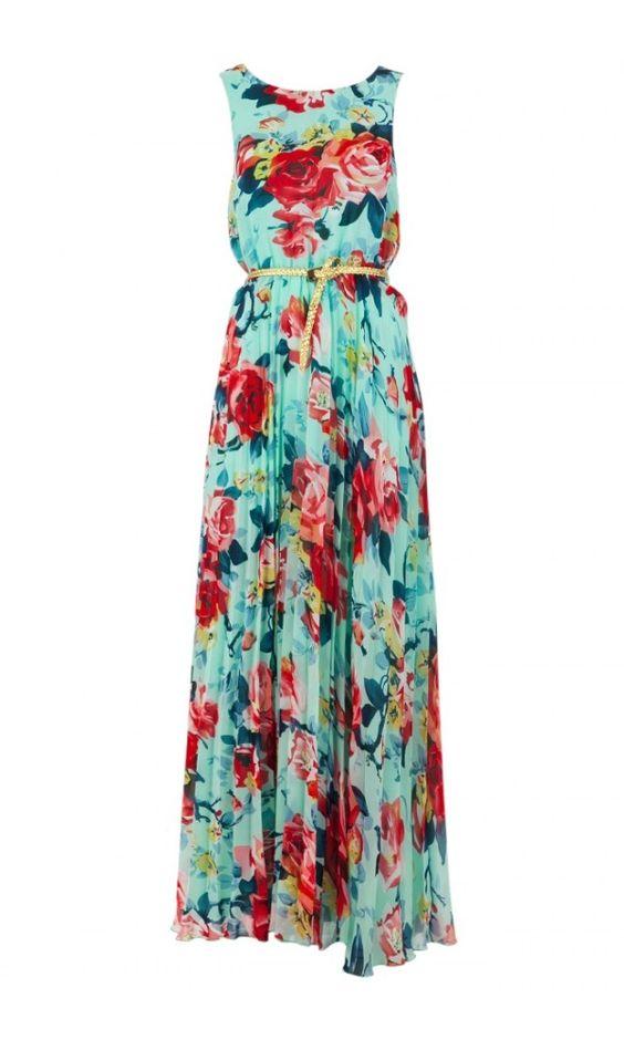 Vestido florido e leve.