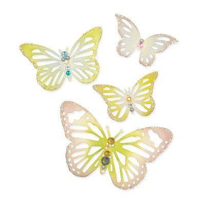 Sizzix Winged Beauties Fjärilar 4 olika