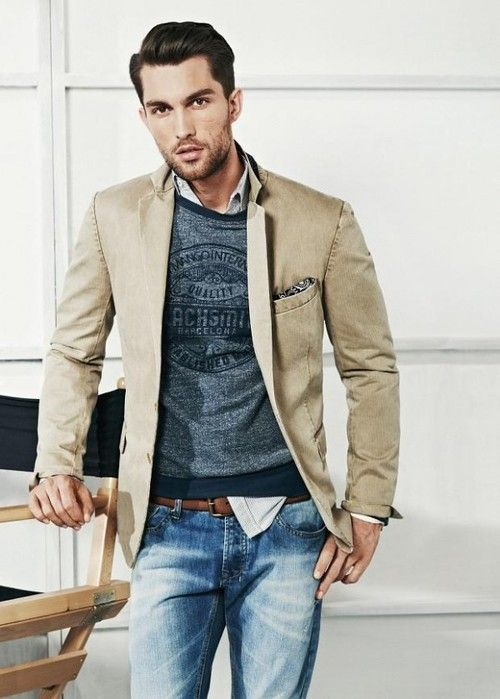 Blazers are great pieces to complete an outfit. H.E. by Mango S/S 2013 #mensfashion