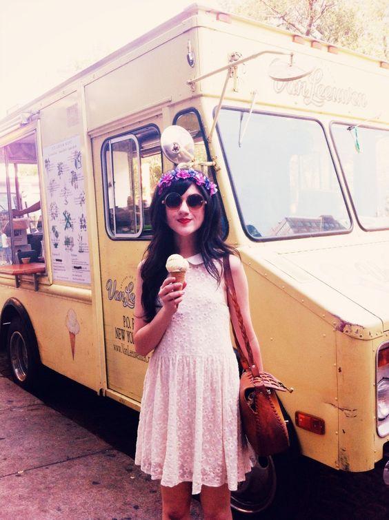: Cream Nyc, Summer Fashions, Ice Cream Van, Cream Pink, Fashionably Jessica, Fashion Styles, Fashion Beauty, Fashion Inspiration, Fashion Photography