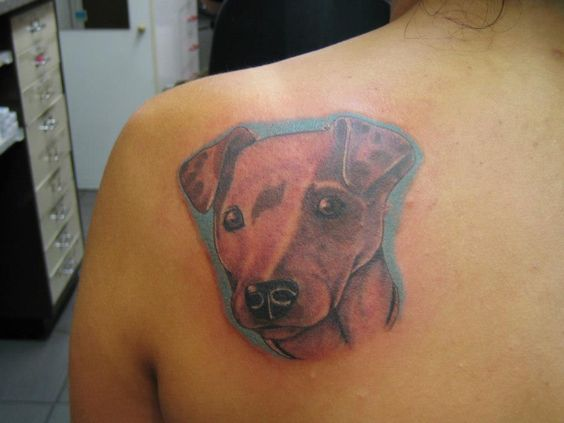 tattoo Dog Portrait by fortuna15.deviantart.com on @DeviantArt