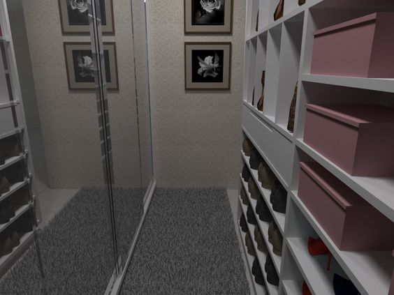 Closet Suíte Master - Apartamento Residencial - Condomínio Ed. Cosmopolitan