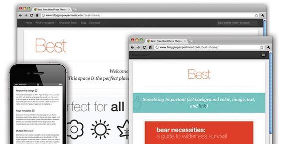 Best : a great WordPress free theme