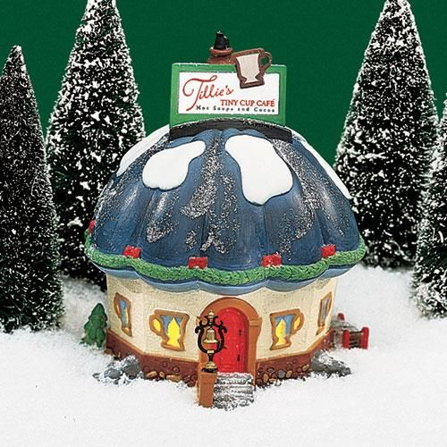 Dept 56 Christmas 2021 Tillie S Tiny Cup Cafe In 2021 Christmas Village Accessories Department 56 North Pole