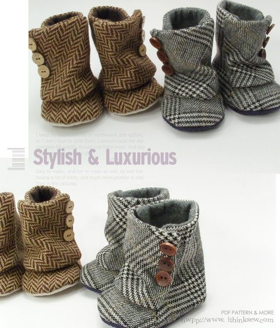 Aren't these the cutest ever!!!: Diy Baby Boot, Sewing Pattern, Baby Shoe Pattern, Baby Girl, Baby Shoes Pattern, Baby Boots