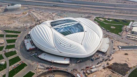 Zaha Hadid S Al Wakrah Stadium Opens In Qatar Ahead Of 2022 World Cup Zaha Hadid Zaha Hadid Design World Cup Stadiums