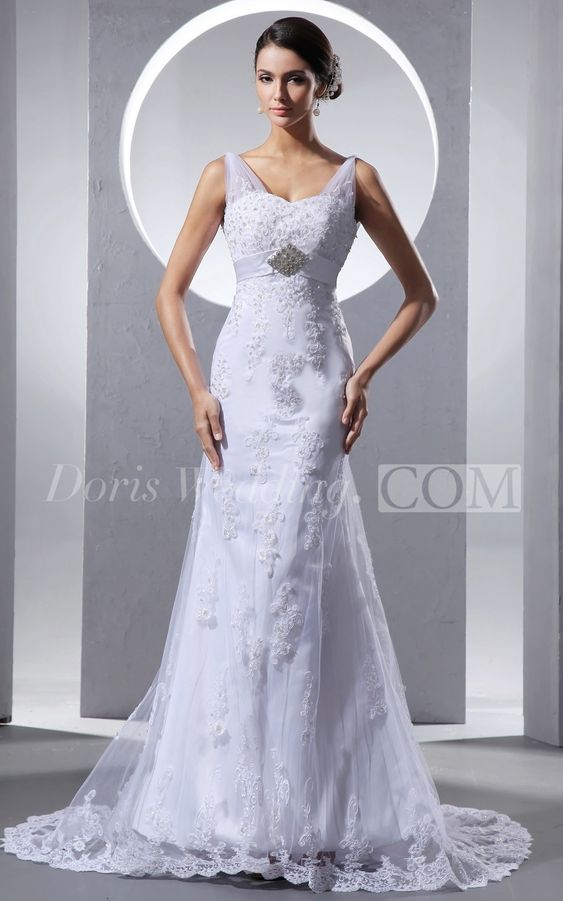 Unique Sweetheart Sheath Lace A Line Wedding Dress #Doris #Wedding #lace #wedding #dresses